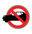 ban car day without a car forbidding sign vector image