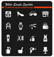 beauty salon icon set vector image vector image