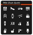 beauty salon icon set vector image