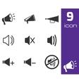 black speaker icons set vector image vector image