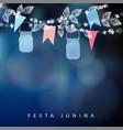 brazilian june party festa junina string vector image vector image