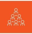 Business pyramid line icon vector image vector image