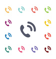 call flat icons set vector image vector image