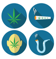 cannabis icons vector image vector image