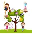 cartoon kids design vector image