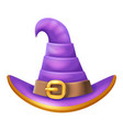 cartoon witch hat halloween children costume kid vector image