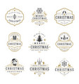 christmas and happy new year wishes labels and vector image vector image