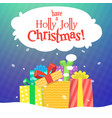 christmas greeting card with gifts vector image vector image