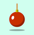 christmas tree red ball icon isolated on iigt vector image vector image