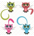 color cats vector image
