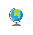 colorful earth globe vector image vector image