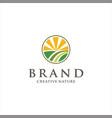 Creative landscaping logo nature garden logo