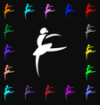 Dance girl ballet ballerina icon sign Lots of vector image