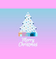 decorated christmas tree with gifts rose quartz vector image