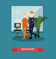 defendant in flat style vector image vector image