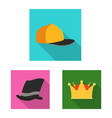 design of headgear and cap sign collection vector image vector image
