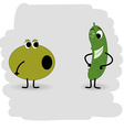 Doodle cucumber will soon be in the olive with a vector image vector image