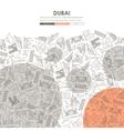 Dubai Doodle Website Template Design vector image