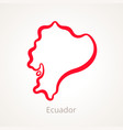 ecuador - outline map vector image vector image