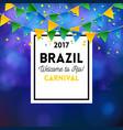 elegant of carnival brazil banner vector image vector image