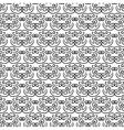 Elegant oriental black and white pattern vector image vector image