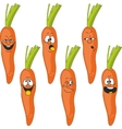 Emotion cartoon carrot vegetables set 017 vector image vector image