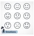 Faces emotions icons set vector image vector image