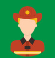 fire fighter characte icon great of character vector image