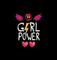girl power label or cute sticker with vector image vector image