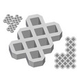 gray concrete pavers on a white background vector image vector image