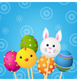 Happy Easter Color Card vector image vector image
