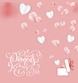 happy womens day banner with paper heart vector image vector image