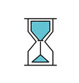 hourglass object design to know the time vector image vector image