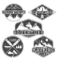 kayaking campingclimbing and adventure vintage vector image vector image