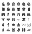 male clothes and accessories solid icon set 2 vector image vector image