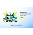 management concept with icon and character vector image vector image