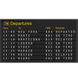 Mechanical departures board vector | Price: 1 Credit (USD $1)