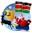 Merry Christmas Kenya vector image