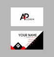 modern creative business card template with ap vector image vector image