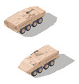 modern infantry combat vehicle isometric icon set vector image vector image