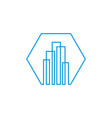 modern line art city logo template city skyline vector image