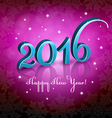 New Year 2016 Pink background vector image vector image