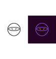 ninja icon of cartoon ninja vector image