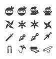 ninja icon vector image vector image
