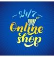 Online Shop Logo Shop print on a T-shirt Shop vector image