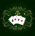 playing cards vip design vector image vector image