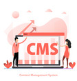 red color flat concept cms content vector image vector image