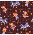 Seamless kids circus background pattern in vector image vector image