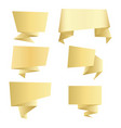 set gold banners vector image