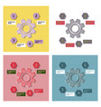 set of technology background with gear wheel vector image vector image